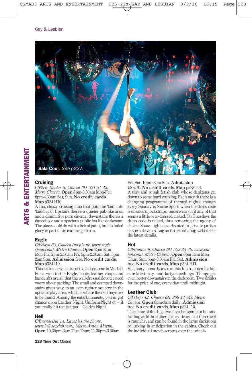 Madrid nightclub tearsheet